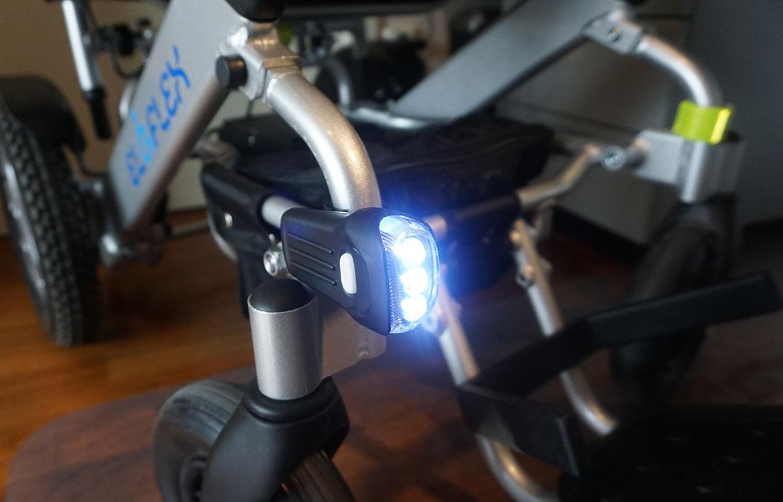 eloflex elrullstol belysning