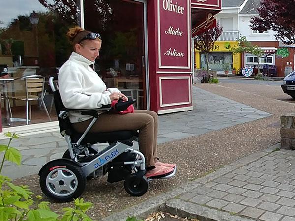Diagnos MS Eloflex hopfällbar elrullstol, elektrisk rullstol, vikbar, portabel, lätt, låg vikt, egen bil, flyg, resa, kompakt, smidig