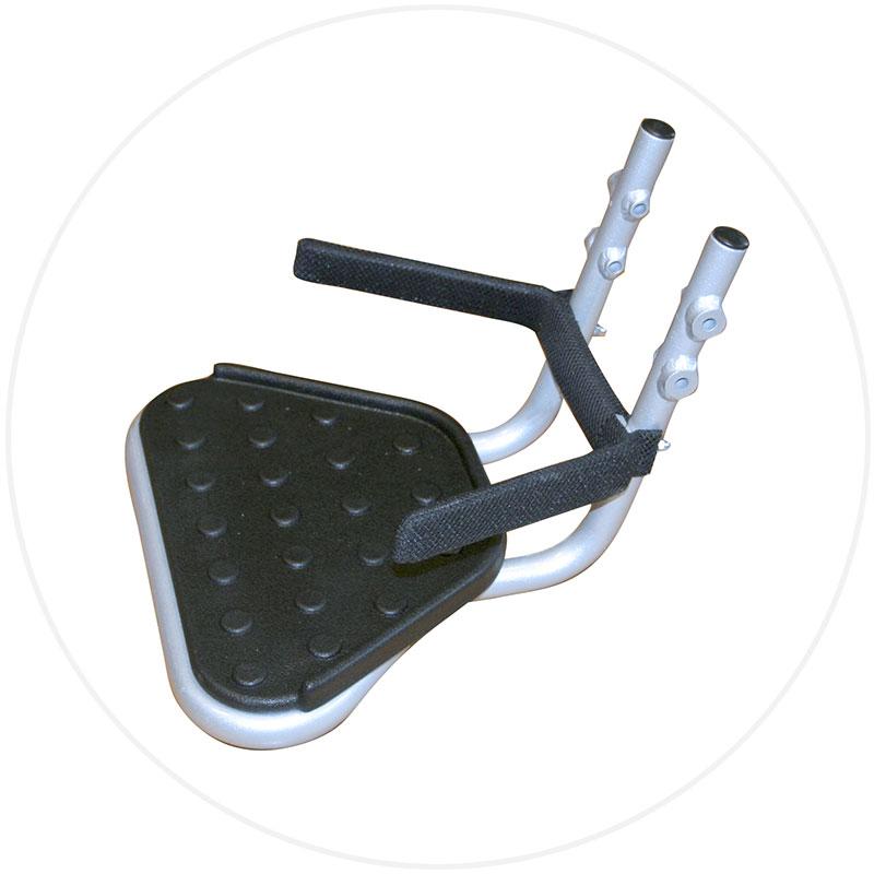 fotstöd, fotplatta Eloflex hopfällbar elrullstol, elektrisk rullstol, vikbar, portabel, lätt, låg vikt, egen bil, flyg, resa, kompakt, smidig