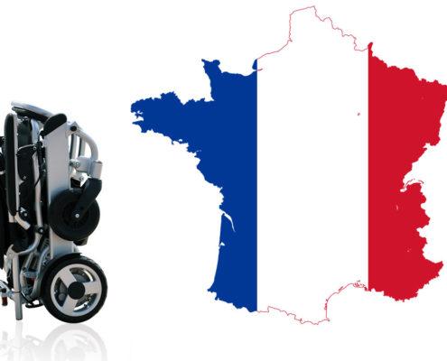 Eloflex hopfällbara elrullstolar i Frankrike