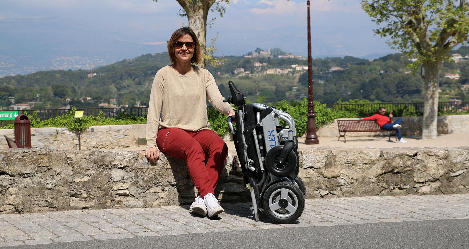 eloflex hopfällbar elrullstol låg vikt-elektrisk rullstol