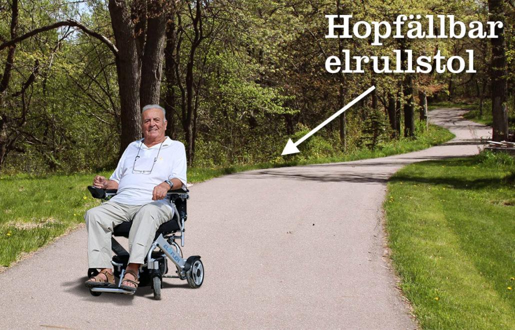 Eloflex hopfällbar elrullstol äldre hjälpmedel