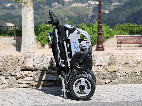 Vikbar Eloflex hopfällbar elrullstol, elektrisk rullstol, vikbar, portabel, lätt, låg vikt, egen bil, flyg, resa, kompakt, smidig