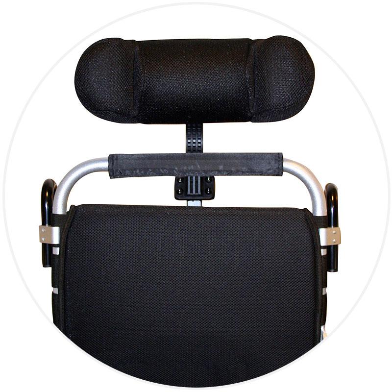 nackstöd Eloflex hopfällbar elrullstol, elektrisk rullstol, vikbar, portabel, lätt, låg vikt, egen bil, flyg, resa, kompakt, smidig