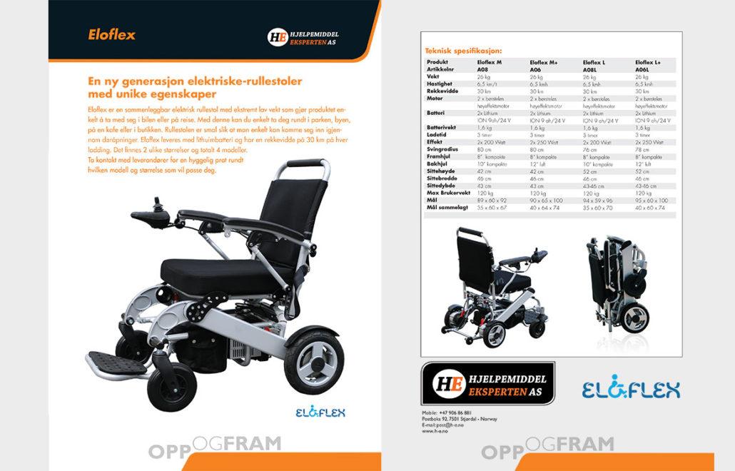 norge Eloflex hopfällbar elrullstol, elektrisk rullstol, vikbar, portabel, lätt, låg vikt, egen bil, flyg, resa, kompakt, smidig