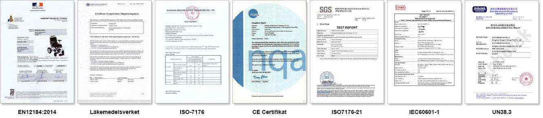 eloflex tester certifikat godkänd