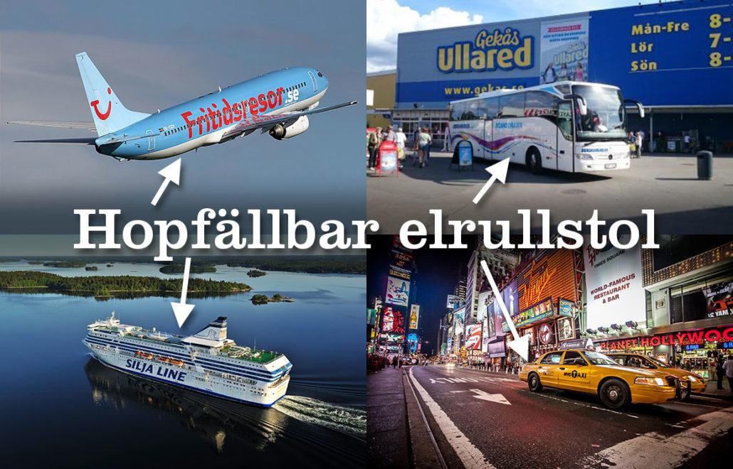 Eloflex hopfällbar elrullstol flyga resa