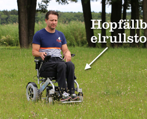 Eloflex hopfällbar elrullstol naturen