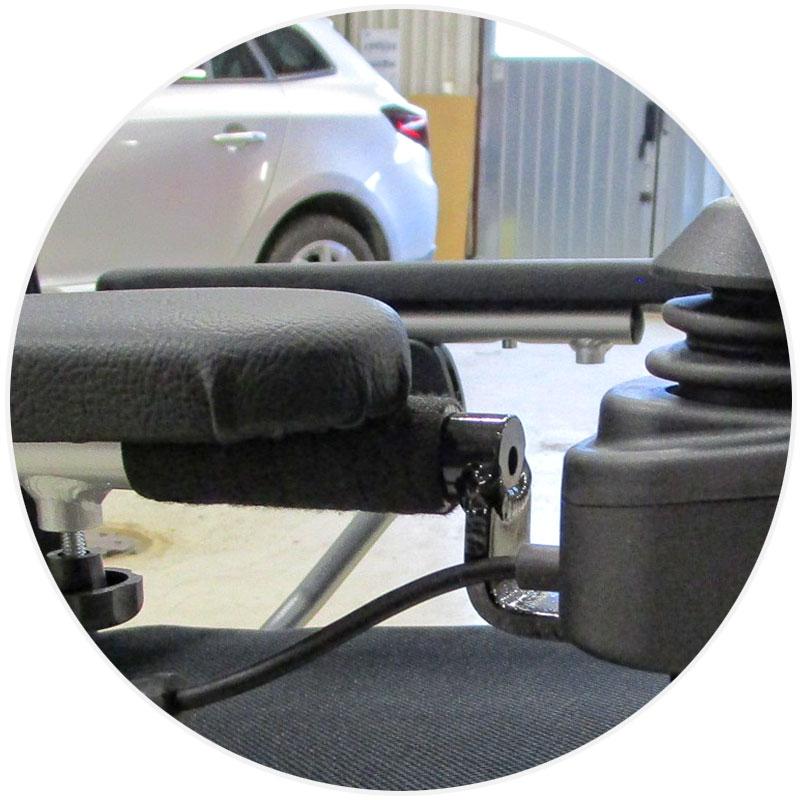 förlängd joystick eloflex elrullstol