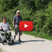 promenad med Eloflex hopfällbara elrullstol
